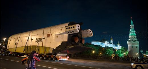 Транспортировка макета Бурана