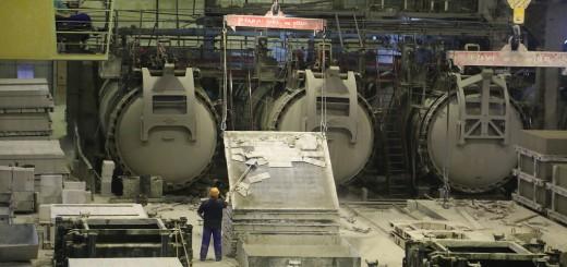 Как производятся стеновые блоки из газобетона в России.
